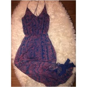 NWT Rory Beca Asymmetrical Side Slit Maxi Dress xs